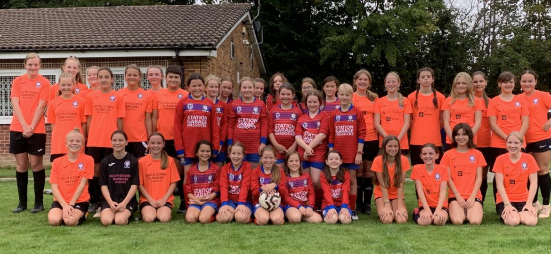 Girls Football Trebles in Size!